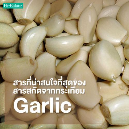 มาทำความรู้จักกับสารที่น่าสนใจที่สุดของสารสกัดจากกระเทียม (Garlic Extract) กัน