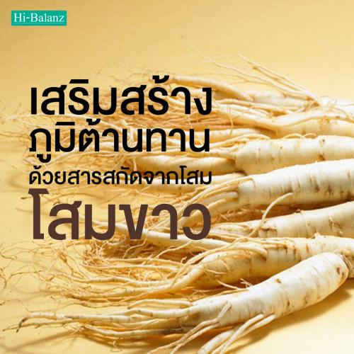 เสริมสร้างภูมิต้านทานด้วยสารสกัดจากโสมขาว (Ginseng Extract)