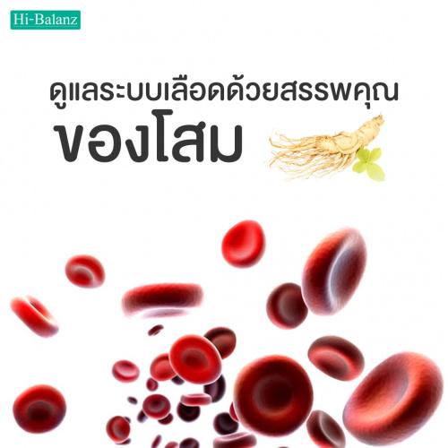 ดูแลระบบเลือดด้วยสรรพคุณของโสม