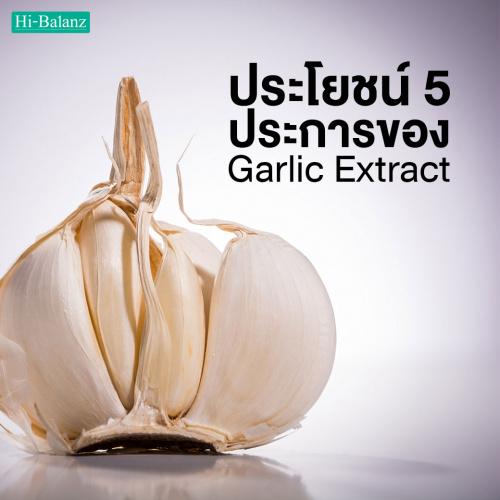 ประโยชน์ 5 ประการของ สารสกัดจากกระเทียม (Garlic Extract)