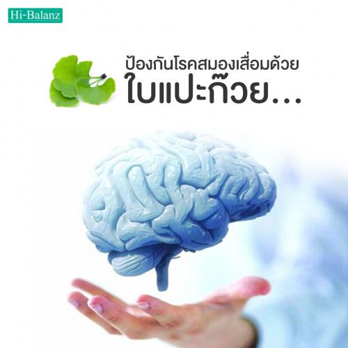 ป้องกันโรคสมองเสื่อมด้วยแปะก๊วย