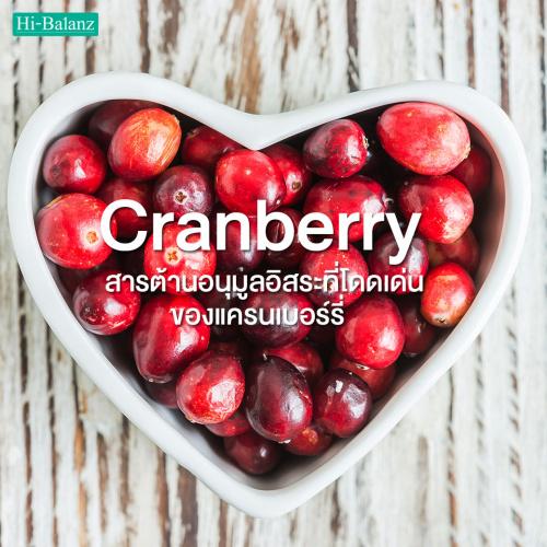 สารต้านอนุมูลอิสระที่โดดเด่นของแครนเบอร์รี่ (Cranberry)