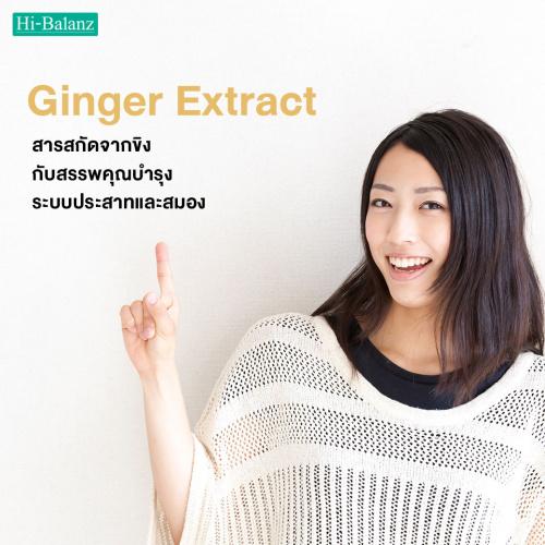 สารสกัดจากขิง กับสรรพคุณบำรุงระบบประสาทและสมอง (Ginger Extract)