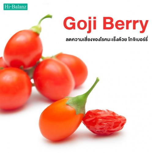 ลดความเสี่ยงของโรคมะเร็งด้วย โกจิเบอร์รี่ (Goji Berry)