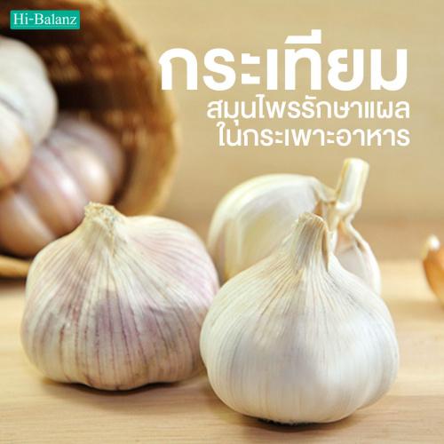 กระเทียม (Garlic) สมุนไพรรักษาแผลในกระเพาะอาหาร
