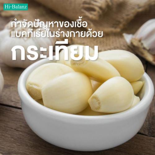 กำจัดปัญหาของเชื้อแบคทีเรียในร่างกายด้วย สารสกัดจากกระเทียม (Garlic Extract)