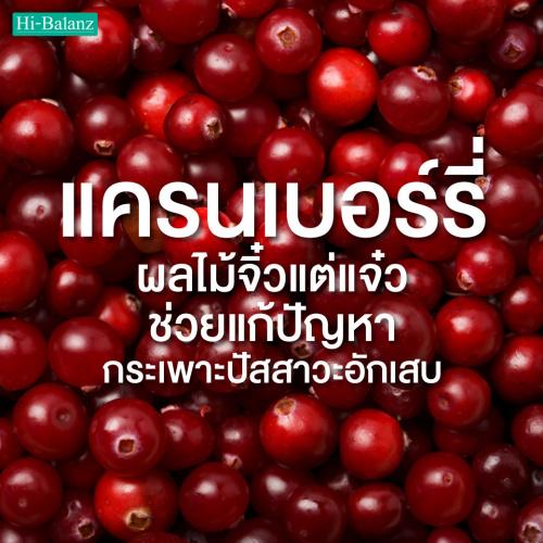 สารสกัดแครนเบอร์รี่ (Cranberry) ผลไม้จิ๋วแต่แจ๋ว ช่วยแก้ปัญหากระเพาะปัสสาวะอักเสบ