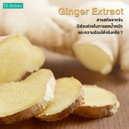สารสกัดจากขิง (Ginger Extract) มีส่วนช่วยในการลดน้ำหนักและความอ้วนได้จริงหรือ?